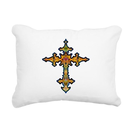 cross25d.png Rectangular Canvas Pillow