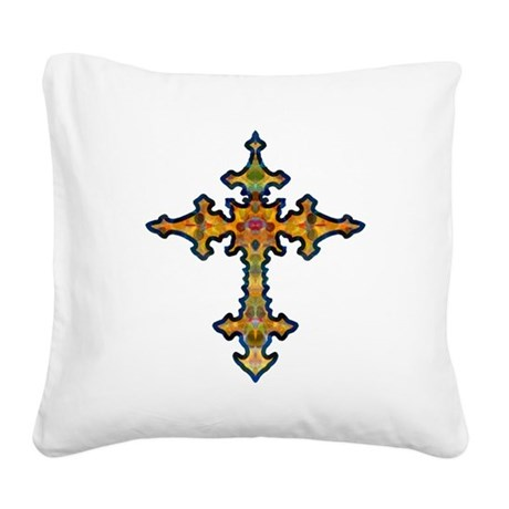 cross25d.png Square Canvas Pillow