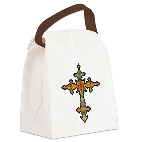 cross25d.png Canvas Lunch Bag