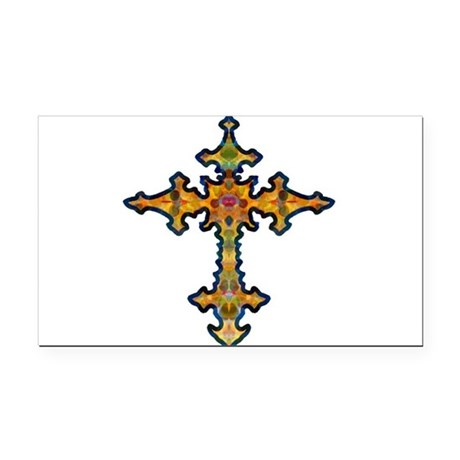 cross25d.png Rectangle Car Magnet