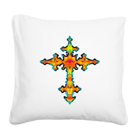 cross25c.png Square Canvas Pillow