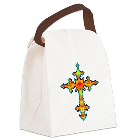 cross25c.png Canvas Lunch Bag