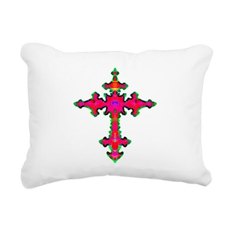 cross25b.png Rectangular Canvas Pillow