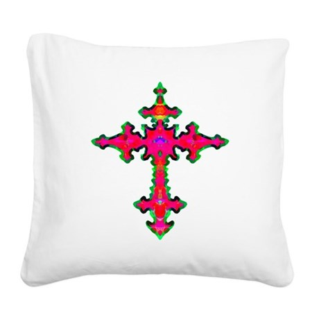 cross25b.png Square Canvas Pillow
