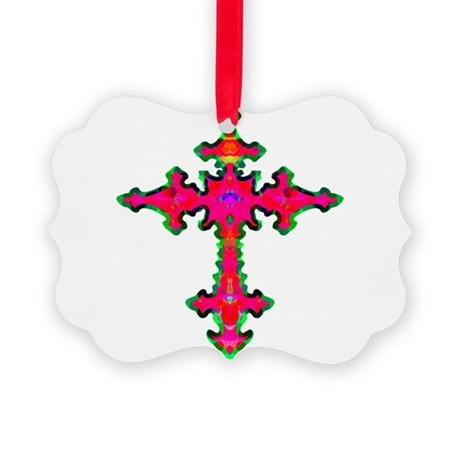 cross25b.png Picture Ornament