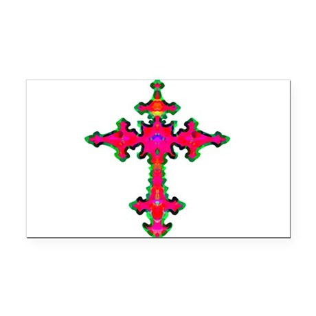 cross25b.png Rectangle Car Magnet