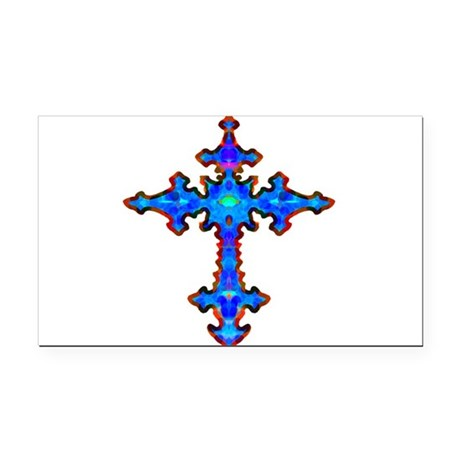 cross25a.png Rectangle Car Magnet