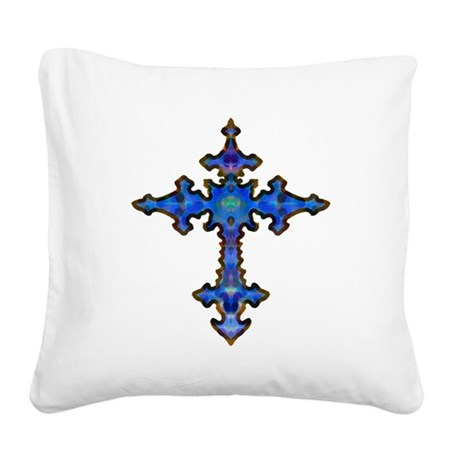 cross25.png Square Canvas Pillow