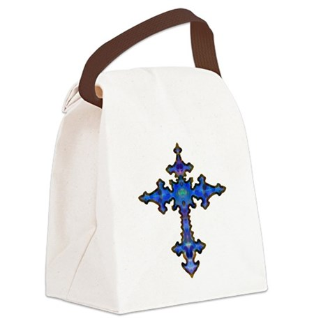 cross25.png Canvas Lunch Bag