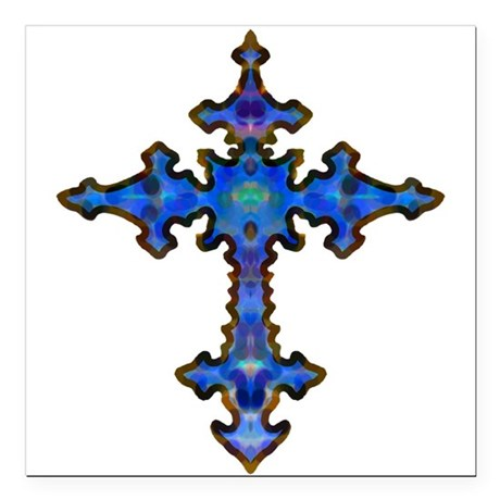 "cross25.png Square Car Magnet 3"" x 3"""
