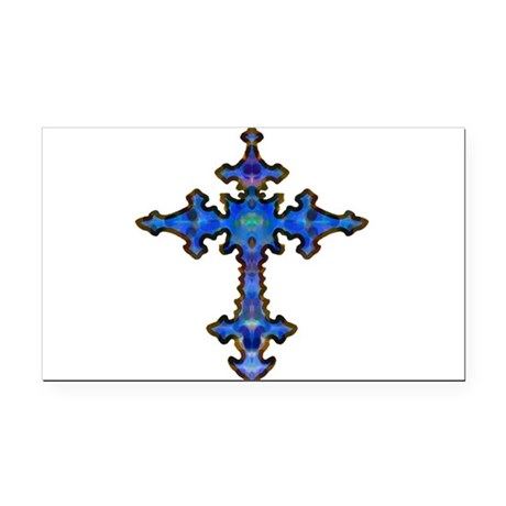 cross25.png Rectangle Car Magnet