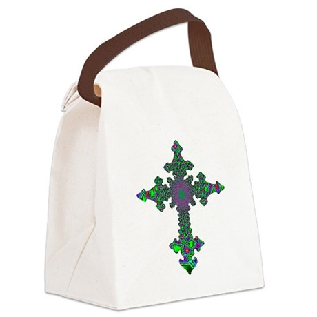 cross24b3.png Canvas Lunch Bag