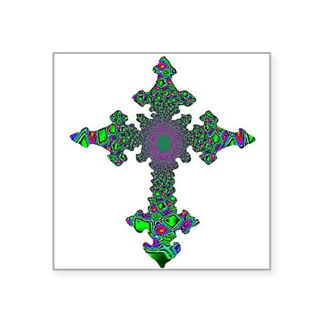 "cross24b3.png Square Sticker 3"" x 3"""