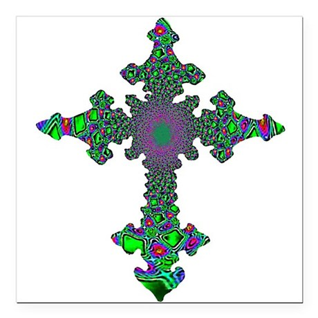 "cross24b3.png Square Car Magnet 3"" x 3"""