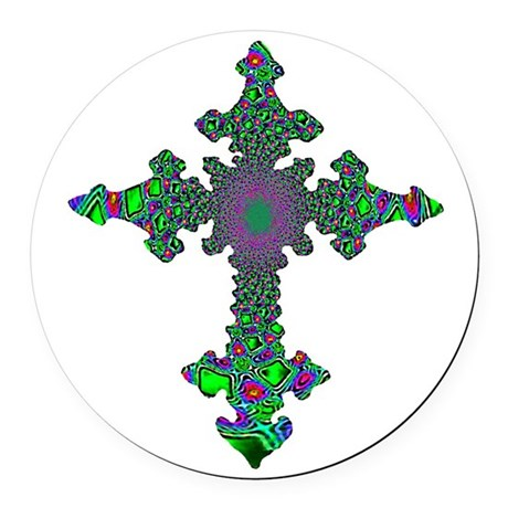cross24b3.png Round Car Magnet