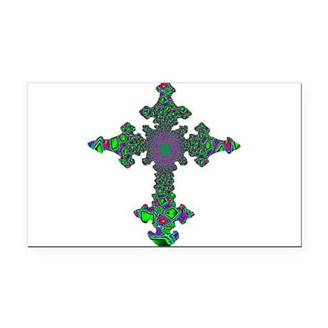 cross24b3.png Rectangle Car Magnet