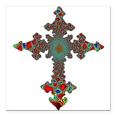 "cross24c.png Square Car Magnet 3"" x 3"""