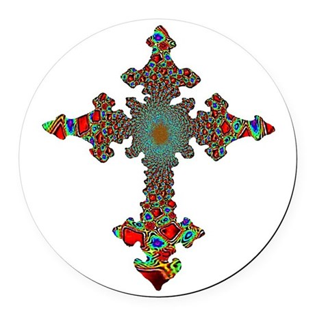 cross24c.png Round Car Magnet