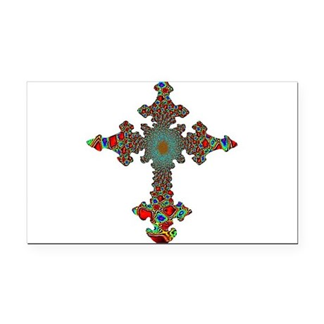 cross24c.png Rectangle Car Magnet