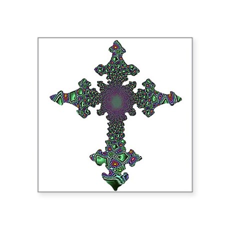 cross24b2.png Square Sticker 3&quot; x 3&quot;