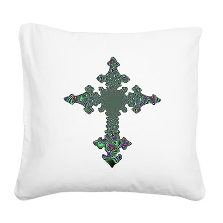 cross24b.png Square Canvas Pillow