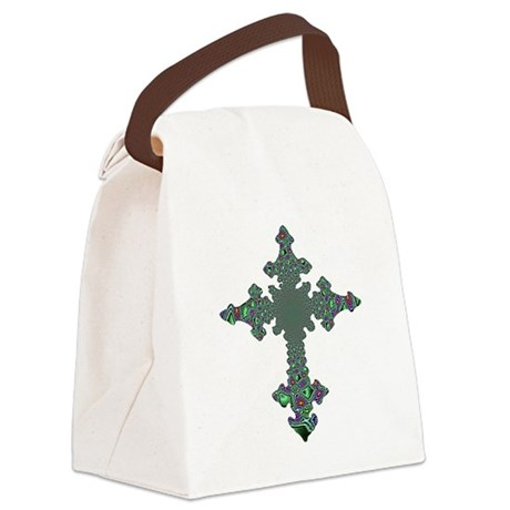 cross24b.png Canvas Lunch Bag