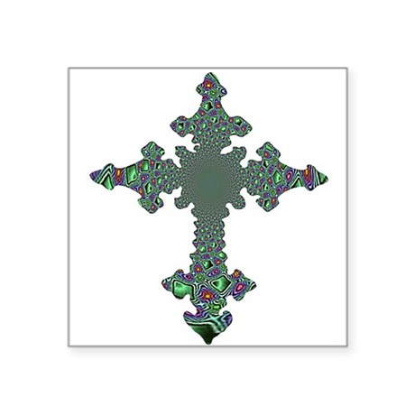 "cross24b.png Square Sticker 3"" x 3"""