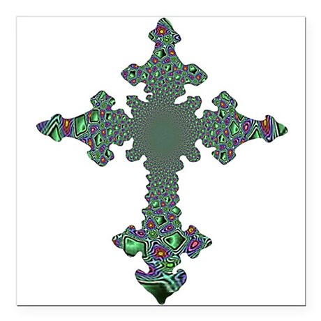 "cross24b.png Square Car Magnet 3"" x 3"""