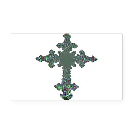 cross24b.png Rectangle Car Magnet