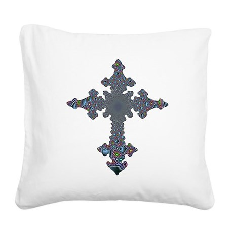 cross24a.png Square Canvas Pillow