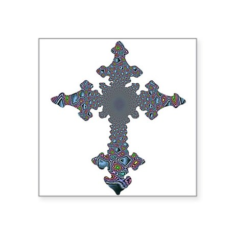"cross24a.png Square Sticker 3"" x 3"""