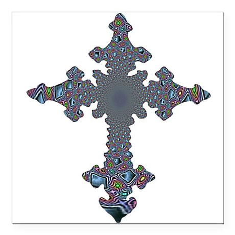 "cross24a.png Square Car Magnet 3"" x 3"""