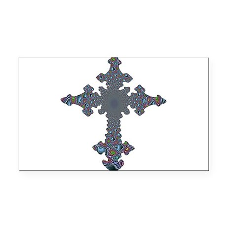 cross24a.png Rectangle Car Magnet