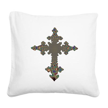 cross24.png Square Canvas Pillow