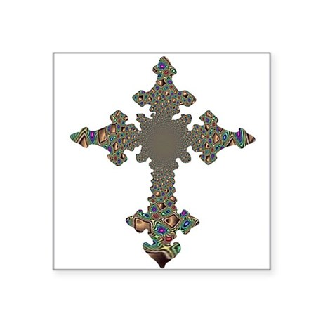 cross24.png Square Sticker 3&quot; x 3&quot;