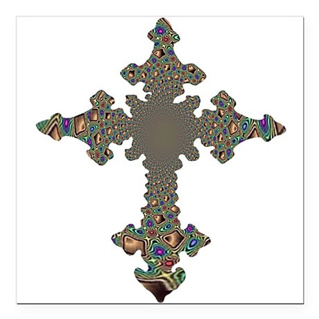 cross24.png Square Car Magnet 3&quot; x 3&quot;