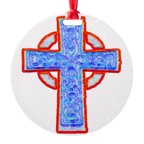 cross29a.png Round Ornament