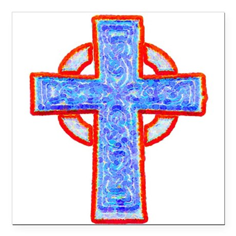 "cross29a.png Square Car Magnet 3"" x 3"""
