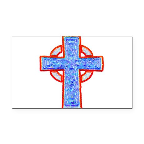 cross29a.png Rectangle Car Magnet