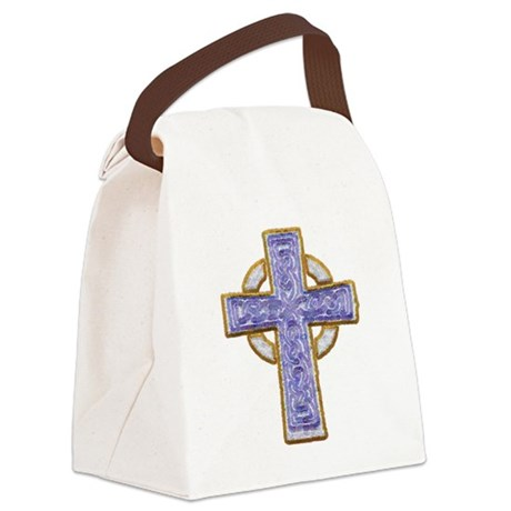 cross29.png Canvas Lunch Bag
