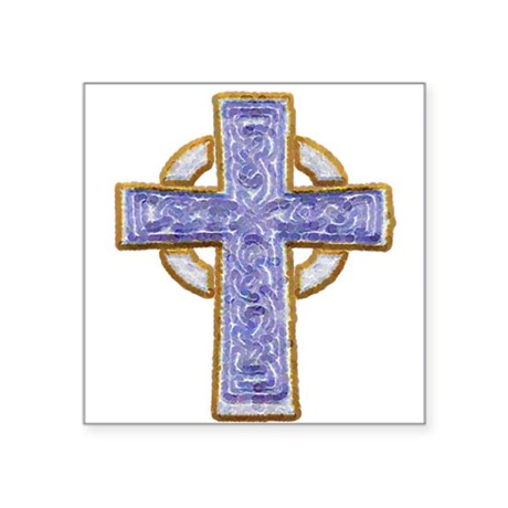 "cross29.png Square Sticker 3"" x 3"""
