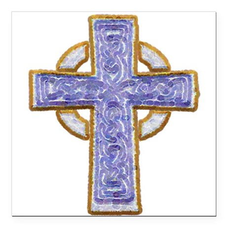 "cross29.png Square Car Magnet 3"" x 3"""