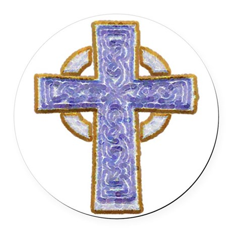 cross29.png Round Car Magnet