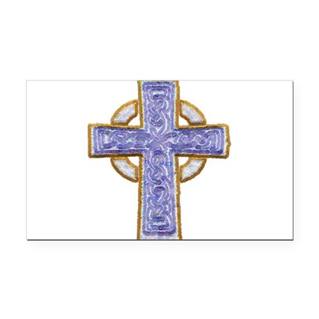 cross29.png Rectangle Car Magnet