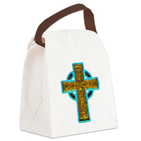 cross29b.png Canvas Lunch Bag