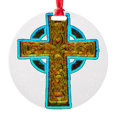 cross29b.png Round Ornament
