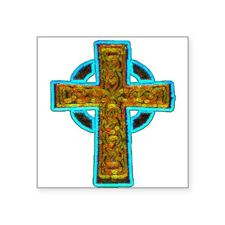 cross29b.png Square Sticker 3&quot; x 3&quot;