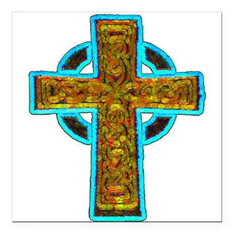 cross29b.png Square Car Magnet 3&quot; x 3&quot;