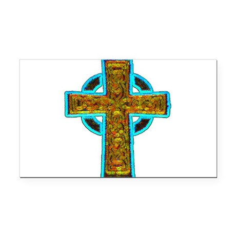 cross29b.png Rectangle Car Magnet