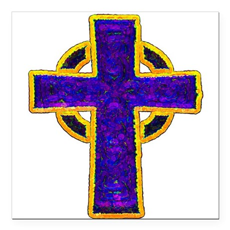 "cross29c.png Square Car Magnet 3"" x 3"""